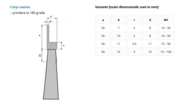 Perie lamerala vacuum Antipraf pe suport flexibil 50 mm inaltime 1