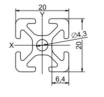 Profil Aluminiu 20x20mm [1]