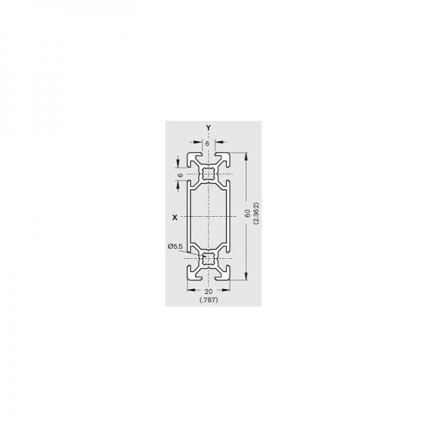Profil Aluminiu 20x60mm 1