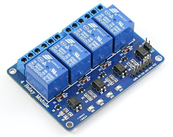 Modul releu 4 canale 5VDC max.250VAC 10A Uîntrerup: max.30VDC 0