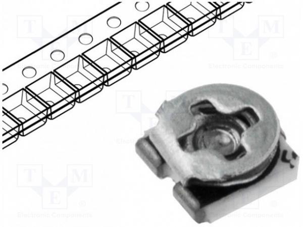Potenţiometru: de montare; singură tură; 10kΩ; 100mW; SMD; ±25% [0]