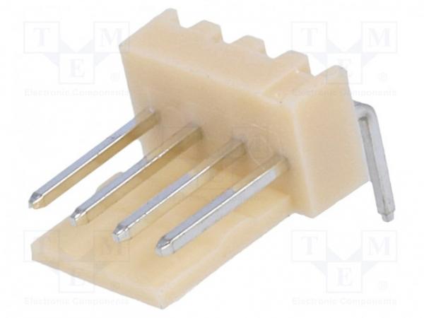 Soclu; cablu-placă; tată; NS25; 2,54mm; PIN: 4; THT; 250V; 3A; 10mΩ [0]