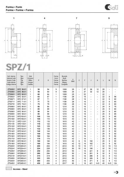 Roata de curea SPA 063/2 BC1008 4