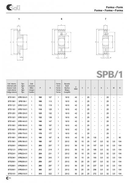 Roata de curea SPA 063/2 BC1008 17