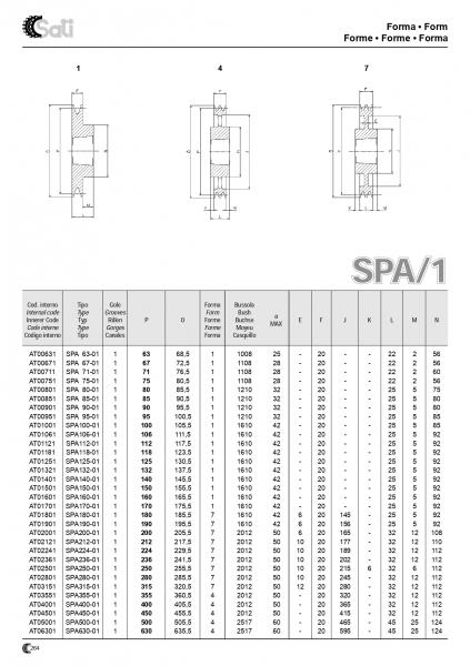 Roata de curea SPA 063/2 BC1008 11