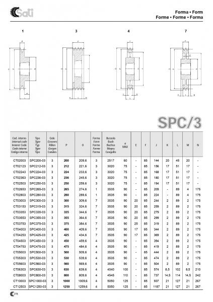 Roata de curea SPA 063/2 BC1008 25