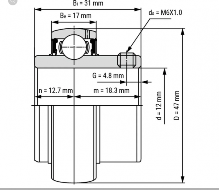 Rulment  UC 201 KBS/CRAFT/MBY/SRBF UC201 [1]