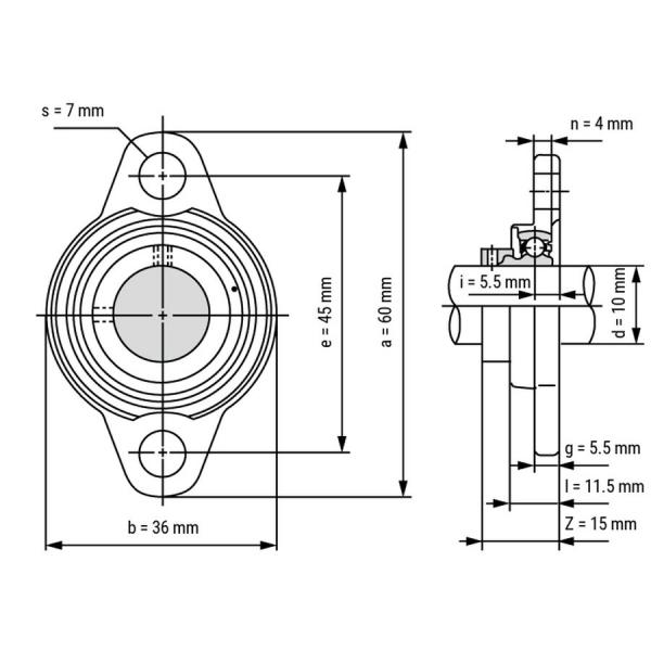 Rulment  KFL 000 10 mm oscilant kfl000 1