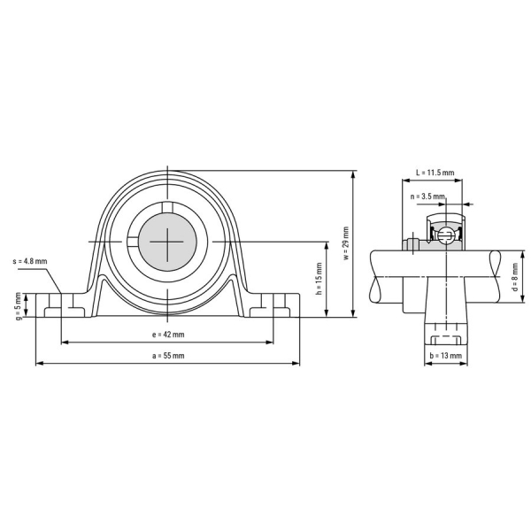 Rulment  KP 08 8mm 1