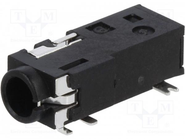 Soclu Jack 3,5mm mamă stereo cu întrerupător dublu piste: 4 0