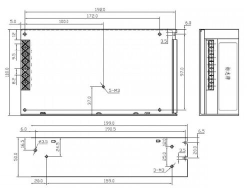 Sursa in comutatie 36V 4.17A S-150-36 2