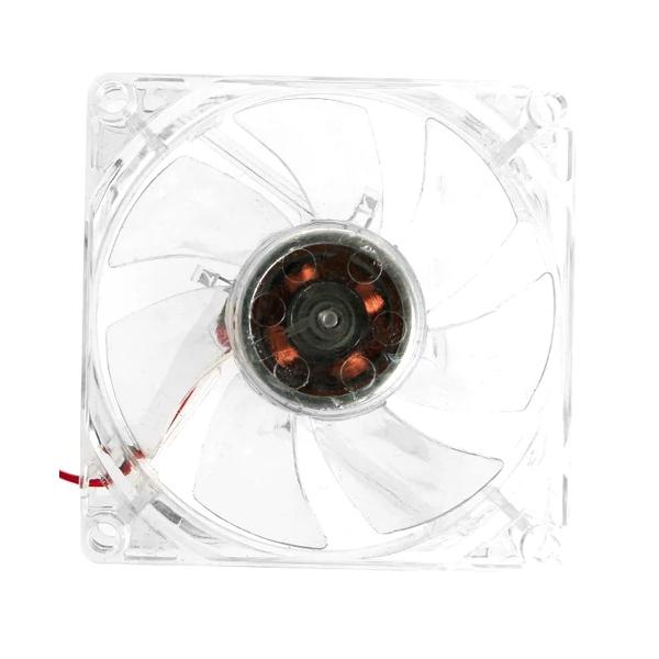 Ventilator 80x80x25mm 12V LED Rosu 0