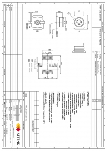 Conector coaxial soclu tata SMT 50Ω1