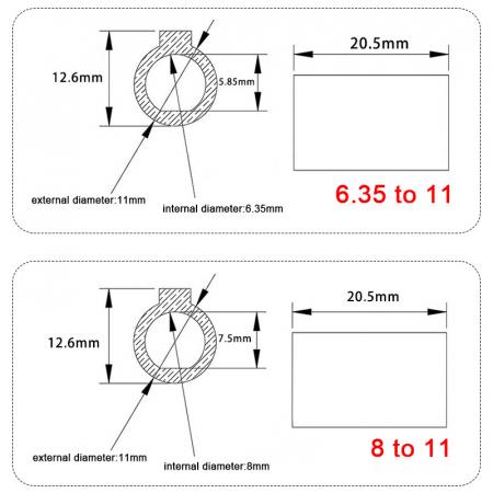 Adaptor motor ax - pana 8-11 mm pentru reductoare melcate [2]