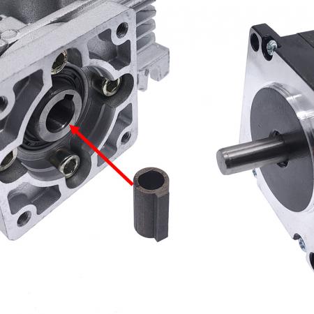 Adaptor motor ax - pana 6.35-11 mm pentru reductoare melcate [1]