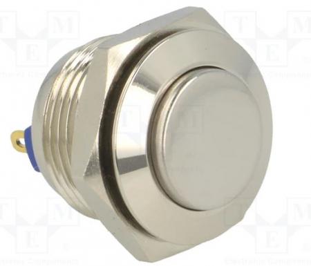 Buton fara retinere rotund SPST-NO; 2A/36VDC; IP65 metal [0]