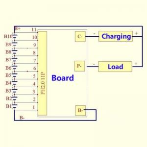 Modul echilibrare si protectie la incarcare 10S baterii Li-Ion 16A1