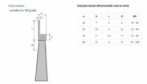 Perie lamerala vacuum Antipraf pe suport flexibil 50 mm inaltime [1]