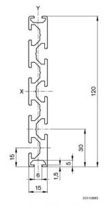 Profil aluminiu 15 x 120 mm Bosch 15x1201