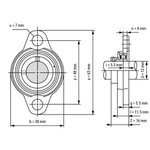 Rulment  KFL 001 12 mm oscilant kfl0011