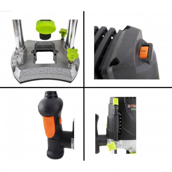 Masina frezat electrica SER2100, router lemn, 2100W, 30000 rpm + set accesorii STROMO [1]