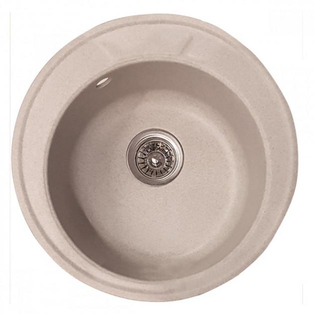 Chiuveta Bucatarie Granit Nisip Mixxus HB8301-G319, 490x180 mm [0]