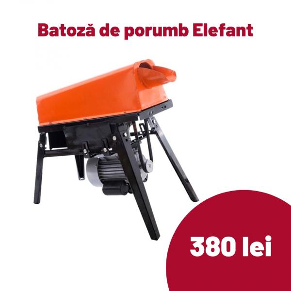 Batoza pentru porumb ELEFANT BE-3000, 1800W, 2850 rpm, 300kg/h, picioare [0]