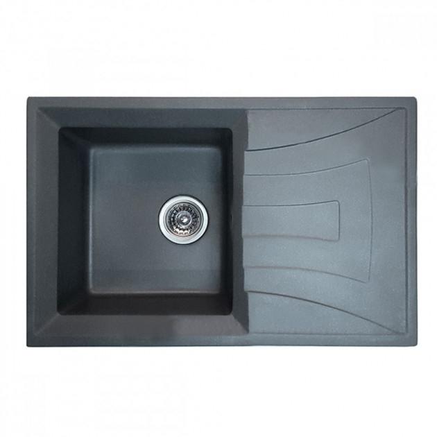 Chiuveta Bucatarie Granit Gri HB8104-G228,  780 x 500 x 200 mm [0]