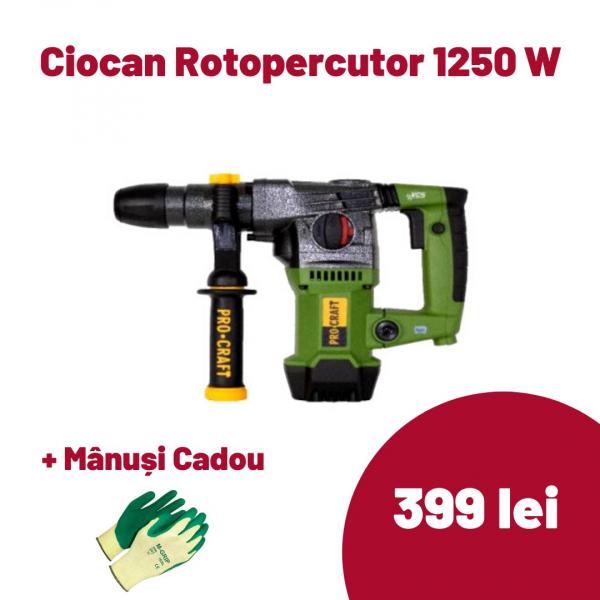 Ciocan rotopercutor Procraft BH1250, 1250 W, 5300 BPM [0]