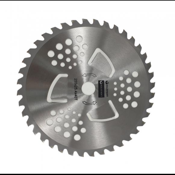 Disc de motocoasa 40T 255x25.4 dinti vidia montare rapida, autocuratare [0]