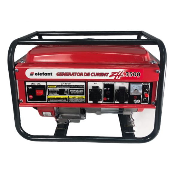 Generator pe Benzina Elefant ZH 3500, 7CP Monofazat, 2.8 kW, 230 V, 1 Cilindru, 4 timpi, Racire cu aer [0]