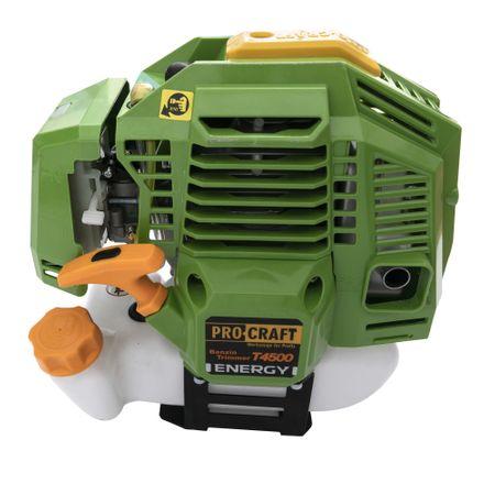 Motocoasa pe Benzina Procraft T4500 cu 4 sisteme de taiere si inca 3 accesorii incluse. Cu o putre de 4.5KW, 56cm3, 6 Cp [2]