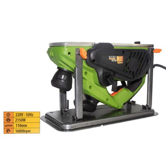 Rindea Electrica cu masa Procraft PE 2150, 2.1 kW, 16000 rpm, 2 cutite + sac colectare [0]