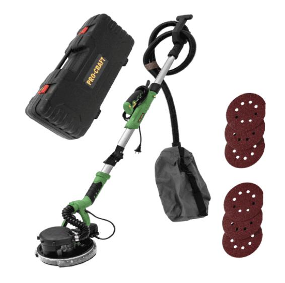 Slefuitor pentru pereti cu aspirator si led Procraft EX1050E, 1050W [2]