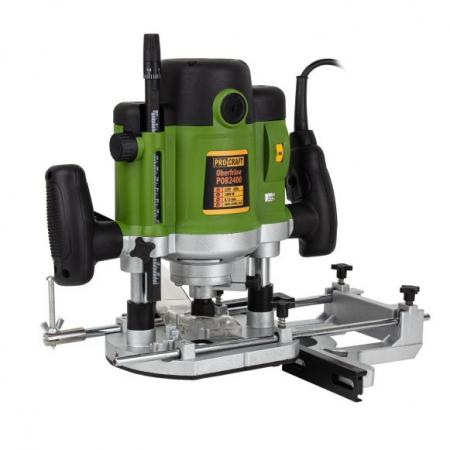 Freza lemn ProCraft POB 2400, 2400 W, 23000 Rpm cu set 12 freze 8/12 mm [1]