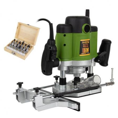 Freza lemn ProCraft POB 2400, 2400 W, 23000 Rpm cu set 12 freze 8/12 mm [0]