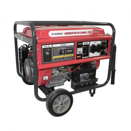 Generator pe Benzina Elefant ZH 6500E, Monofazat, 5,5 kW, 230 V, 1 Cilindru, 4 timpi, Racire cu aer, Pornire electrica [1]