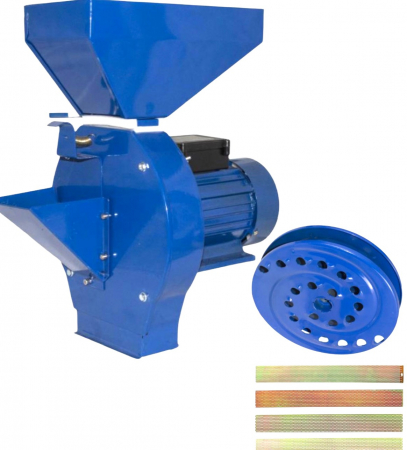 Moara Electrica + Razatoare de  Fructe SI Legume ,ELEFANT CM-1.1D, Motor cupru 3500W, 3000 RPM [0]