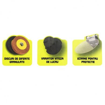 Polizor de banc cu gravor, 400 W, 10000 RPM, 75 mm, Procraft PBG 400 [2]