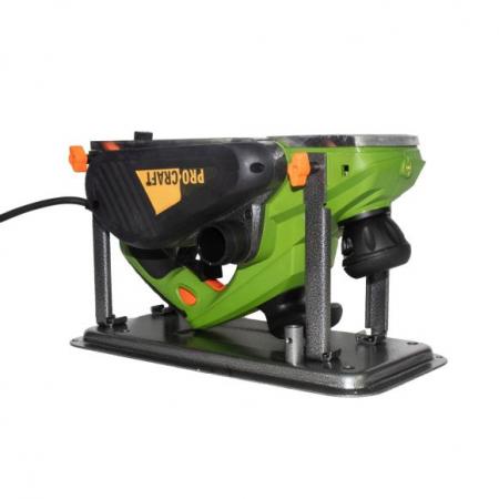 Rindea Electrica cu masa Procraft PE 2150, 2.1 kW, 16000 rpm, 2 cutite + sac colectare [3]