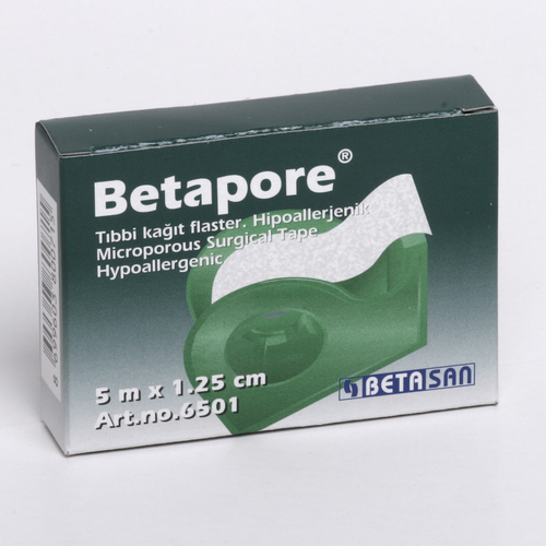 BETAPORE - BANDA ADEZIVA PE SUPORT DE HARTIE (1,25cm x 5m) 0