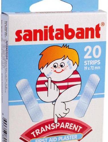 SANITABANT TRANSPARENT - PLASTURI REZISTENTI LA APA (20 buc.) 0