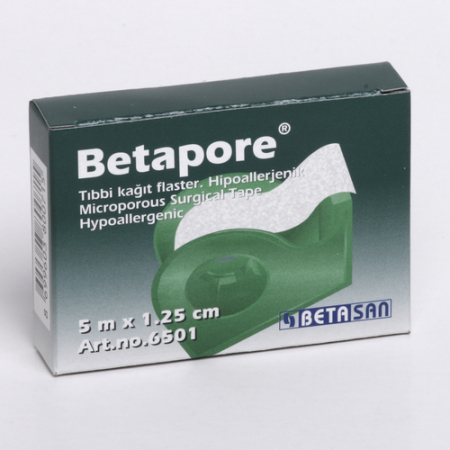 BETAPORE - BANDA ADEZIVA PE SUPORT DE HARTIE (1,25cm x 5m)0