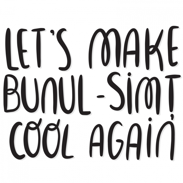 Sticker contur - Let's make bunul-simț cool again 0