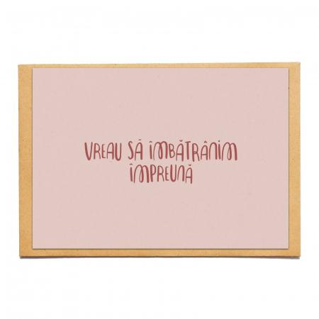 Cartolina - Vreau să îmbătrânim împreună0
