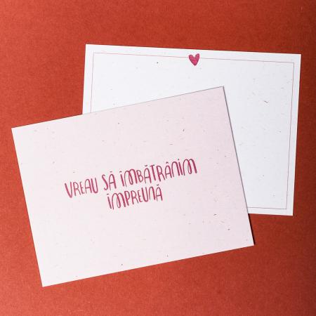Cartolina - Vreau să îmbătrânim împreună1