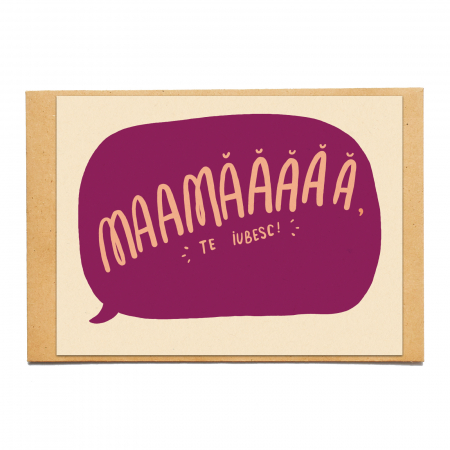 Cartolina - Mama, te iubesc0