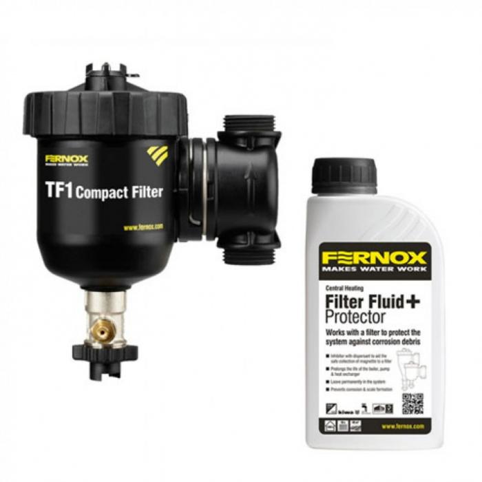 Filtru antimagnetita Fernox TF1 Compact + fluid protector 1