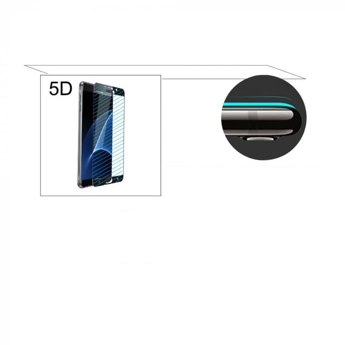 Folie sticla securizata 5D, 9H full screen, neagra, iPhone XS Max, iPhone 11 Pro Max 3