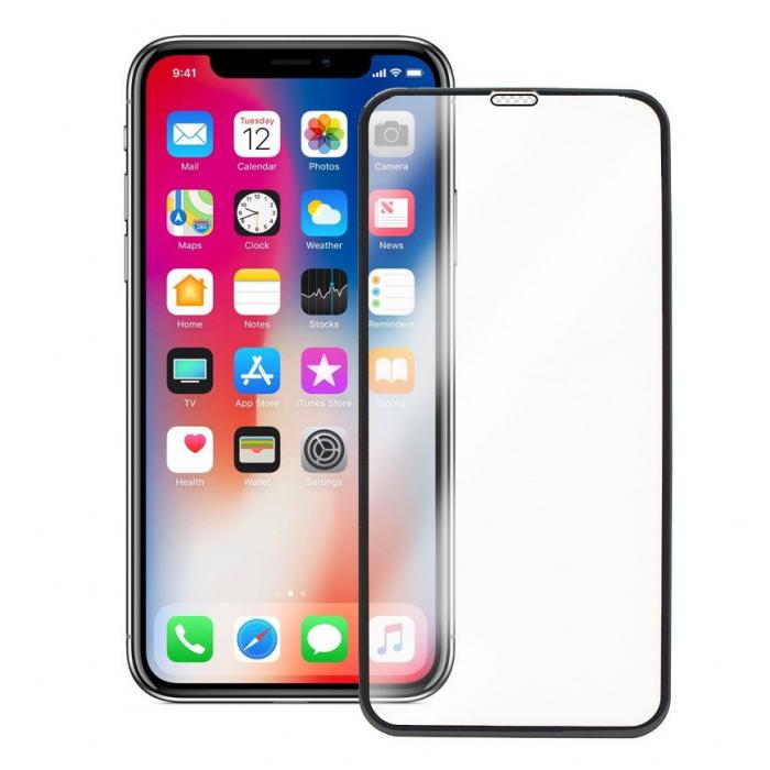 Folie sticla securizata 5D, 9H full screen, neagra, iPhone XS Max, iPhone 11 Pro Max 1